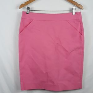 NWT J.Crew Factory pink pencil skirt back slit 8